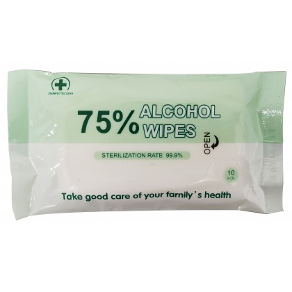DISINFECT&CLEAN 75% Alc Disinfection Wet Wipes 10'S