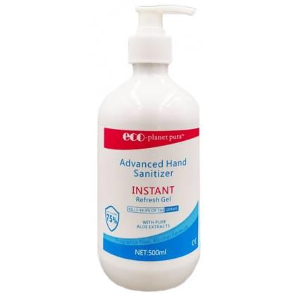 ECO-PLANET PURA 75% Alc Hand Sanitizer Gel 500ML